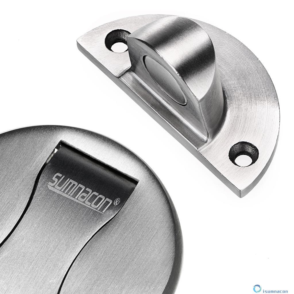 ... Sumnacon Powerful Stainless Steel Magnetic Door Stopper, Solid Metal Door  Stop Catch With Hardware Screws ...