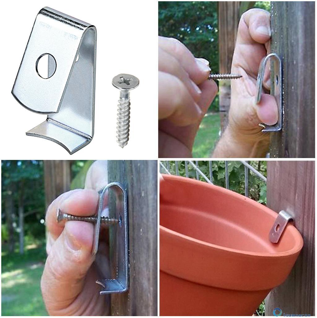 12 Pcs Hard Steel Durable Plant Latch Hangers... Sumnacon Flower Pot Clips